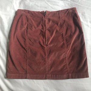 Free People Skirts - Free People Blush Pink Corduroy Mini Skirt